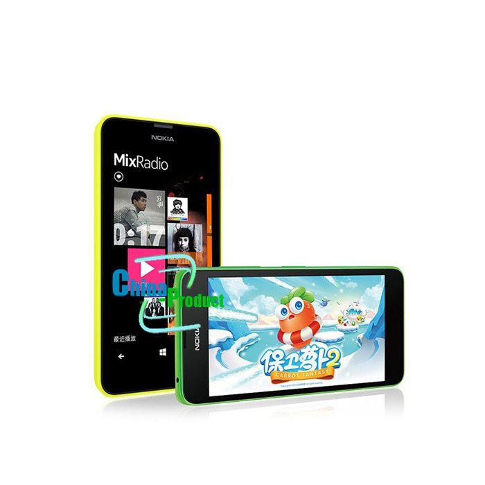 100% Original unlocked Nokia Lumia 630 Unlocked phones 512M/8G quad core 5MP camera 4.5 Inch Windows OS