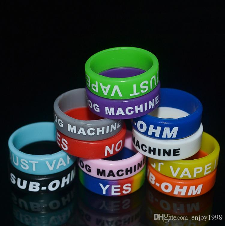 FREE DHL Personalized Vape bands Silicone Bracelet,Customized Vape Band Silicone Ring 22mm Rubber Silicone Bands for E Cig Mods