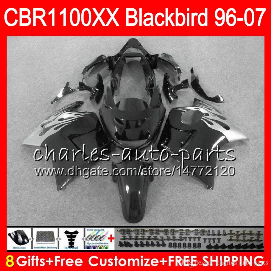 Body For HONDA Blackbird gloss black CBR1100 XX CBR1100XX 02 03 04 05 06 07 81NO40 CBR 1100 XX 1100XX 2002 2003 2004 2005 2006 2007 Fairing