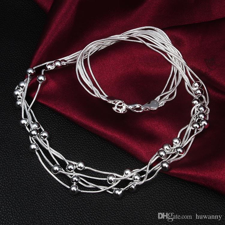 Collane d'argento caldo di vendita del serpente della catena a maglia pendente della collana Perle fortunati le donne Party Girl gioielli di moda all'ingrosso N213YDHX
