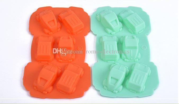 Car Chocolate ice lattice bakeware silicone cake mold tool ,pudding handmade soap cake mold