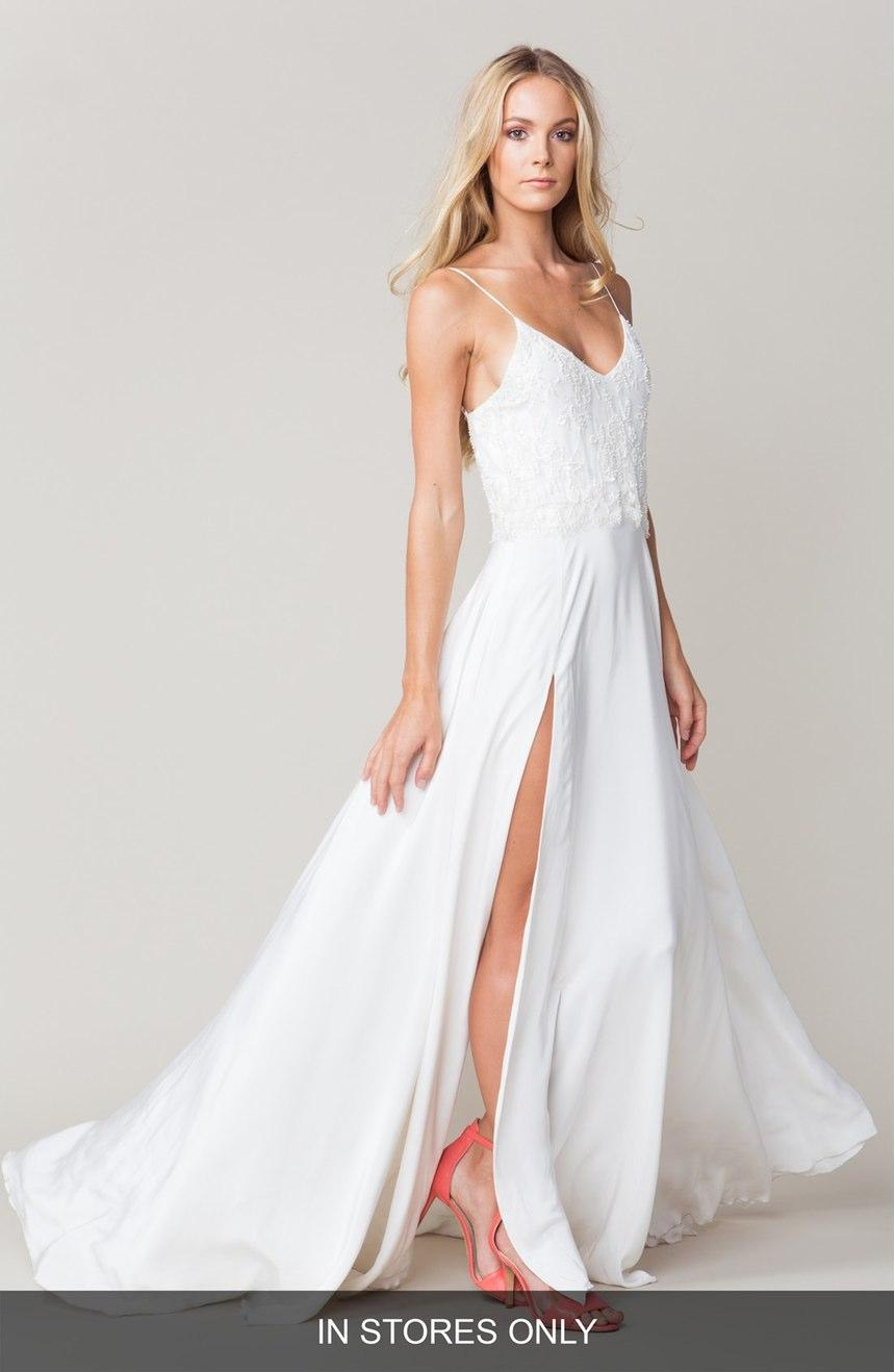 Discount Spaghetti Straps Backless Beach Wedding Gowns 2016 Lace ...