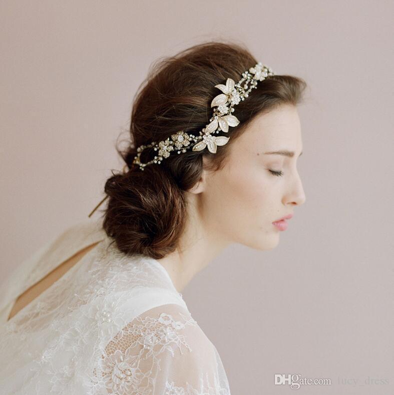 Grosshandel Schmuck Haar Hochzeit Handgemachte Vintage Kristall