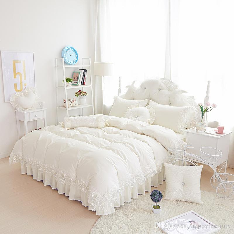2016 Lace Bedding Set 100 Cotton Romantic