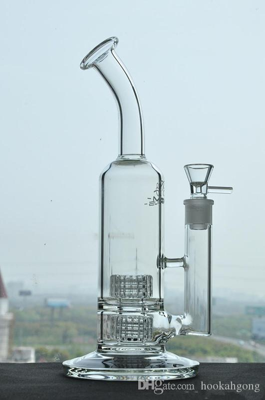 Nouveau Mobius Glass bangs Rig Stab Matrix Stab Double Stereo Matrix Perc 18,8mm base lourde commune