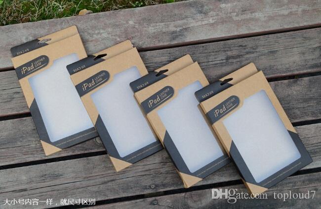 Caja de papel Kraft Brown Paper Caja de embalaje para 9.7 iPad 6 air 5 6 Air2 5 3 4 7.9 caja de cuero mini 2 PU