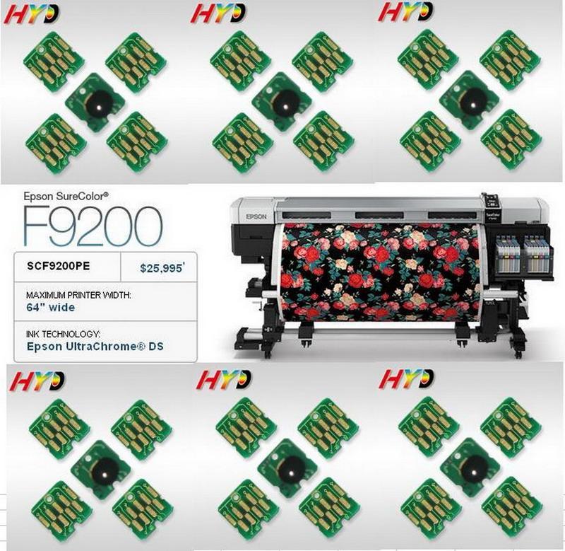 DHL / FEDEX gratuito: 40 Piezas / Lote, T7411 T7412 T7413 T7414 Chip de repuesto para Epson SureColor F9200 Impresora LD-D-Sub de 64