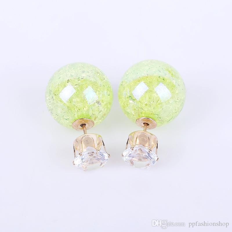 Boucles d'oreilles de mode bijoux, boucles d'oreilles de mode de couleur bonbon ondulé enduit, boucles d'oreilles de perle chaude boucles d'oreilles en gros livraison gratuite