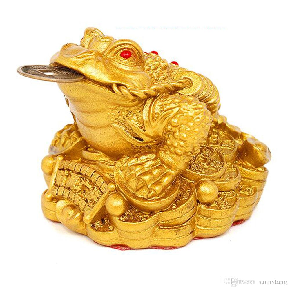 Feng Shui Money Lucky Frog Coin Toad/Chan Chu Chinese Charm of Prosperity Home Decoration Gift