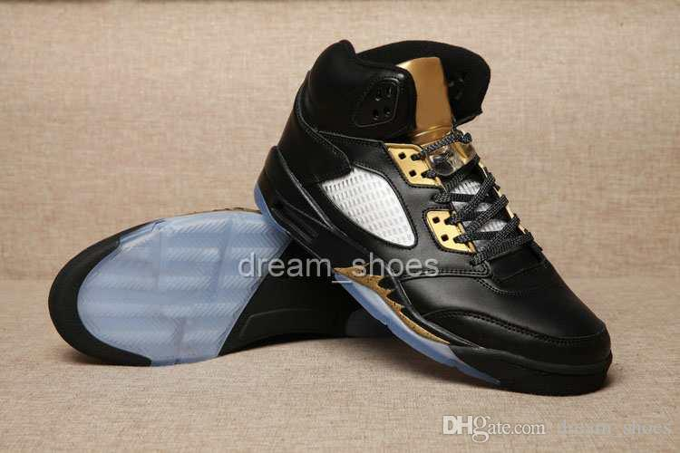 super cute d8b55 47186 2016 Newest Retro 5 Black Metallic Gold Scratch Color Mens Basketball Shoes  Retros 5 High Quality Retro 5s Shoes Online Sneakers Sports Shoes For ...