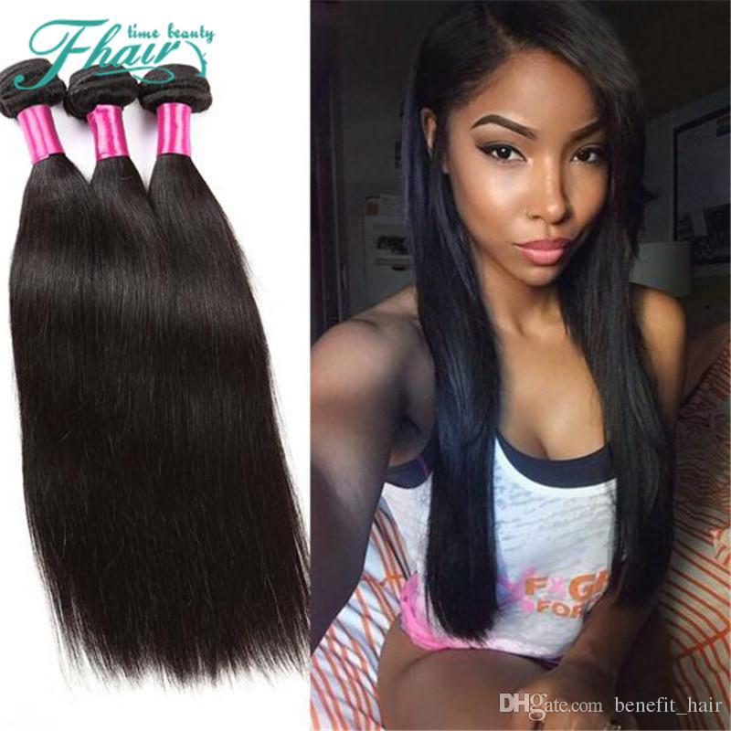 "No Shedding,No Tangle The Best Peruvian Hair Straight 3 Bundles,8A Grade 10-30""Inch Length Human Hair,Free DHL Shipping"
