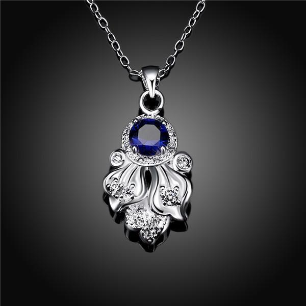 moda regalo di Natale polipo dell'argento di figura 925 collane del pendente STPN119B, migliore regalo rosso della pietra preziosa collana di gioielli in argento sterling