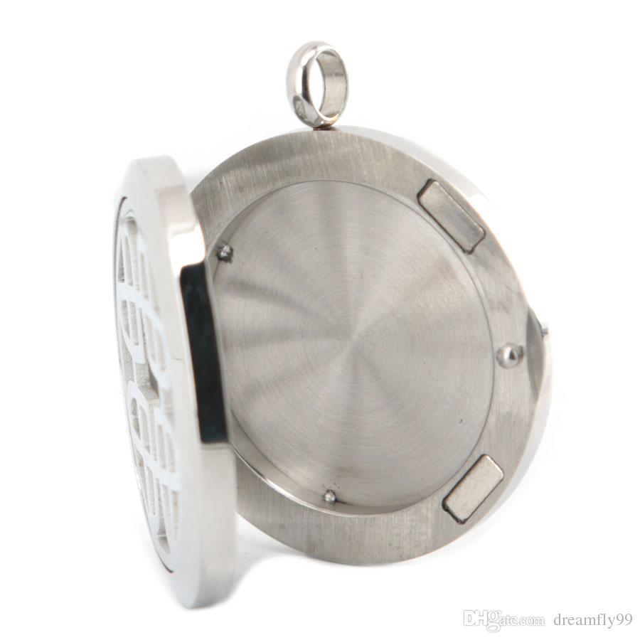 New Arrive Love Days Aromatherapy Essential Oil surgical Stainless Steel Perfume Diffuser Locket Necklace with chain and pads