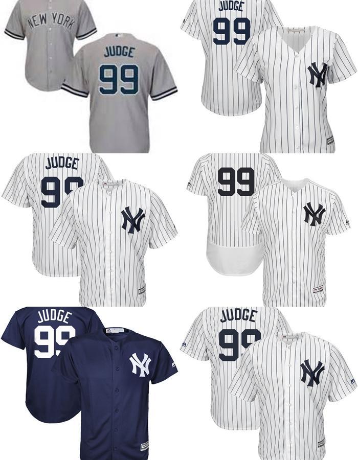 10d9cf9c9cb ... Jersey Cheap Mens Womens Kids New York Yankees 99 Aaron Judge Home  White Road Gray Alternate Navy ...