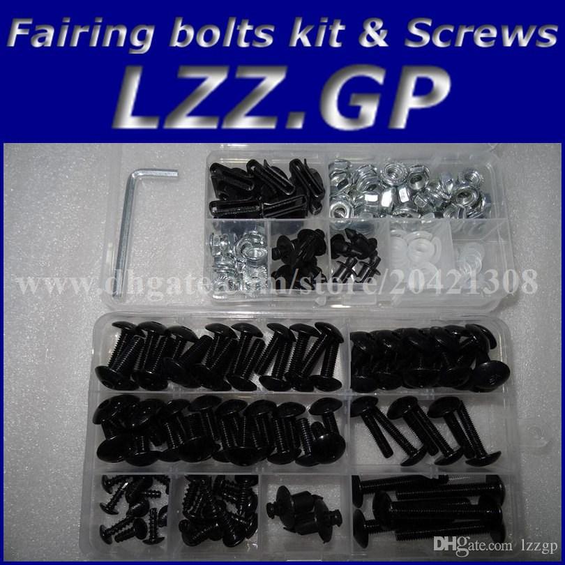 Fairing bolts kit screws for HONDA CBR900 929 2000 2001 CBR900RR 00 01 CBR929 929RR Fairing screw bolts Black silver