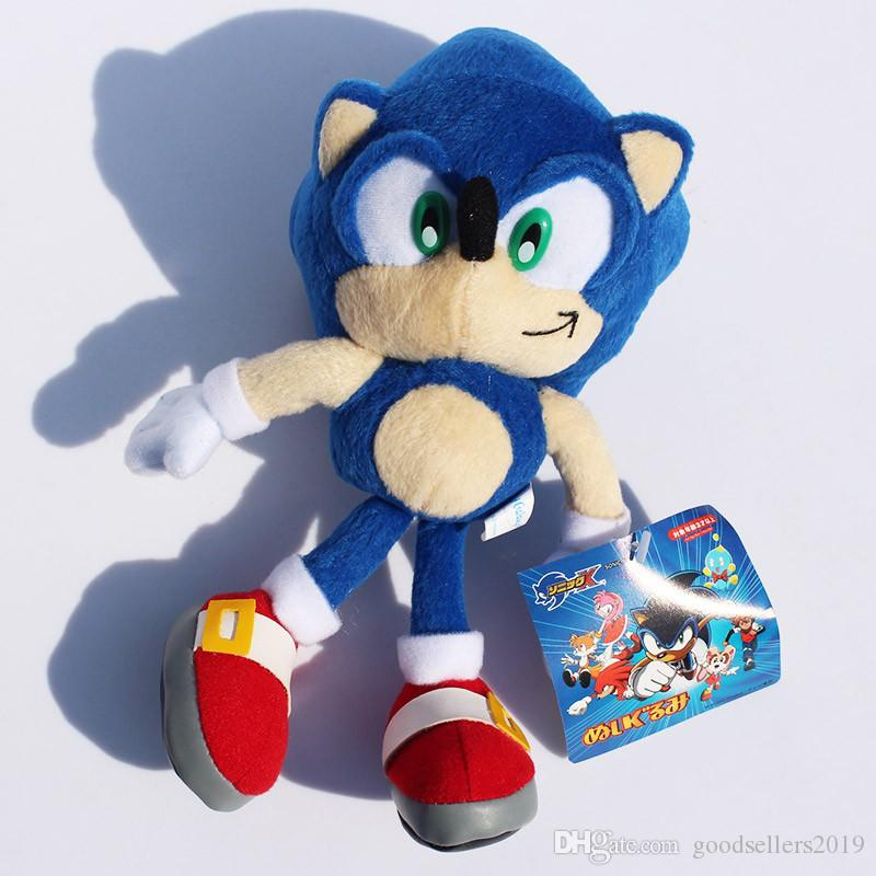 "Stuffed Animals 9""23cm Blue Sonic the Hedgehog Stuffed Animals Plush Toys Soft Doll For Children Retail"