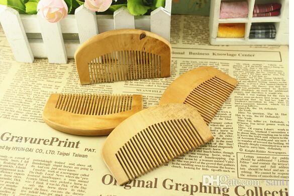 Peigne en bois naturel Beard Beard Cheveux Brosse Pocket Bois Petit Massage Har Har Soins Outil de style