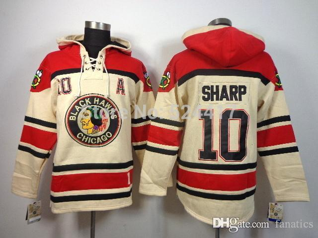 Men's cheap free shipp. Chicago Blackhawks #10 Patrick Sharp ice hockey jersey hoodies/hooded sweatshirt