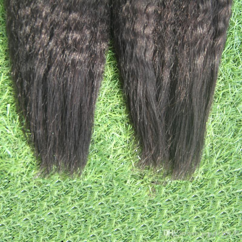 Non Transformés Cheveux Brésiliens 200g Yaki Humain 2 Bundles En Vrac de Cheveux Humains Pour Tressage En Vrac Sans Attachement Italien Yaki Brésilien En Vrac Cheveux