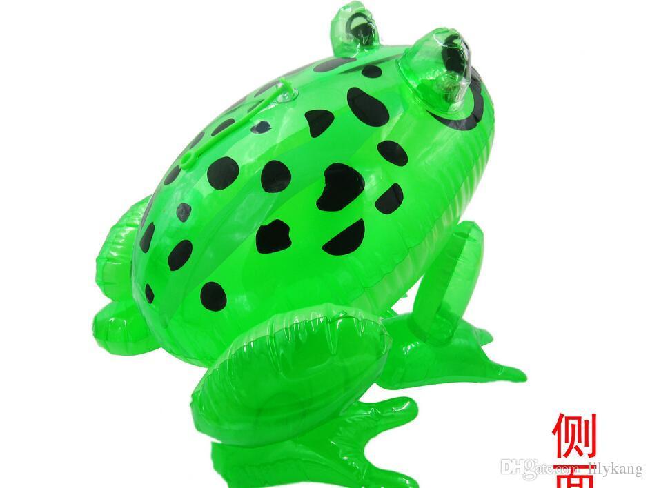 matériel LED grenouille bébé extérieur animal gonflable jouets pour enfants gonflables bain piscine 28x29x36cm jouet taille grand pvc enfants jouets Livraison gratuite