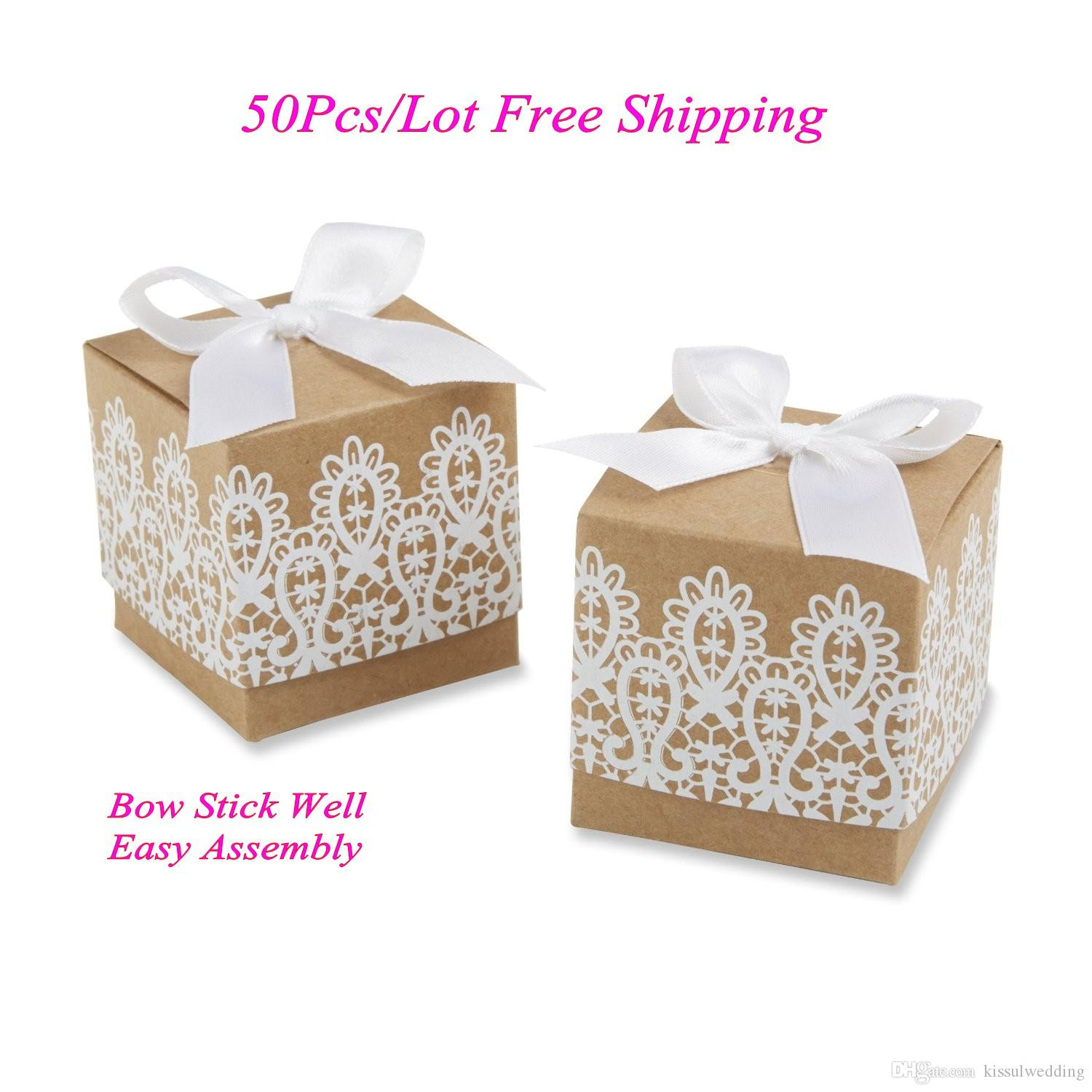 Cheapest Wedding Gift Box Of Rustic And Lace Favor Box For Wedding ...