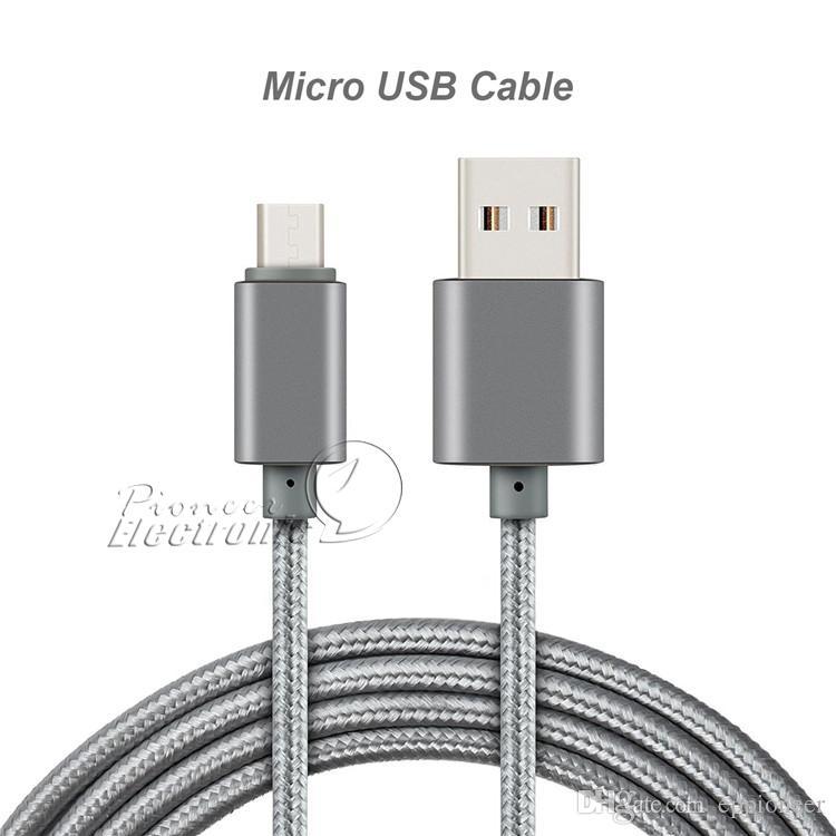 Type C Câble micro USB Note 3 4 Câble 3.0 Données de synchronisation Android Chargeur Chargeur Adaptateur de câble Câblé Pour Samsung S5 S6 Bord S7