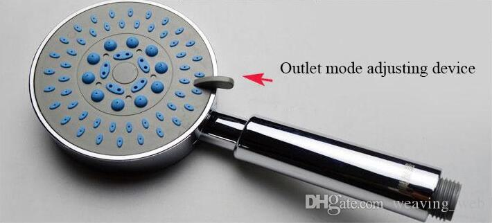 2016 wholesale round multifunctional shower head hand held durable polished Chrome shower nozzle for bathroom use