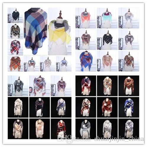 36 ألوان الشتاء وشاح الترتان الكشمير وشاح المرأة منقوشة بطانية وشاح جديد مصمم أكريليك الأساسية شالات المرأة والأوشحة و التفاف OOA7138