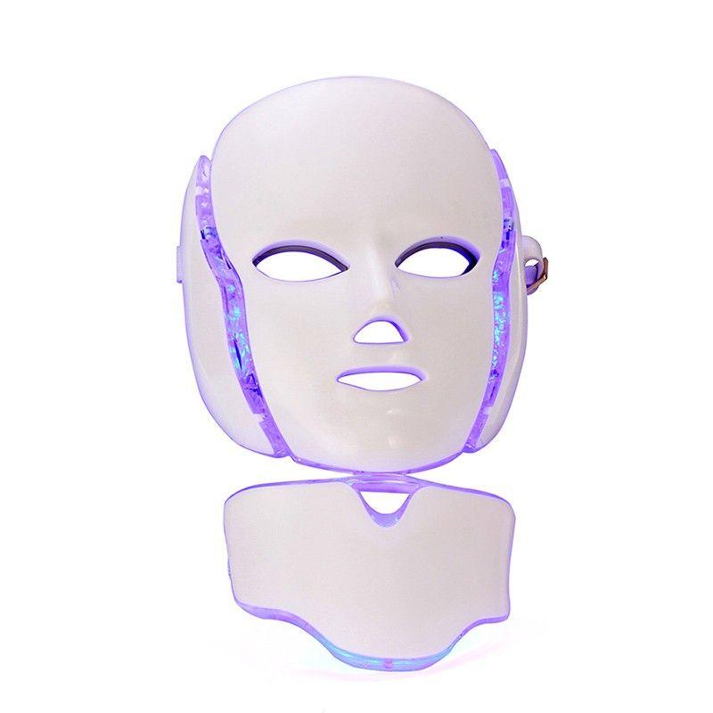 PDT Terapia de fotones LED Mascarilla facial Rejuvenecimiento de la piel Cuidado de la piel Máquina de belleza Uso del cuello facial con soporte para uso en el salón