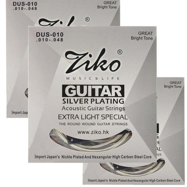 2019 010 048 dus 010 ziko acoustic guitar strings guitar parts wholesale musical instruments. Black Bedroom Furniture Sets. Home Design Ideas