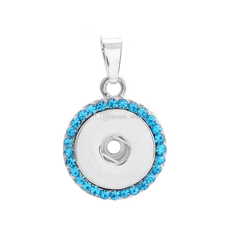 2016 New Hot Style NOOSA Ginger Snap Button Charms Jewelry Interchangeable Jewerly Crystal Pendants Necklace