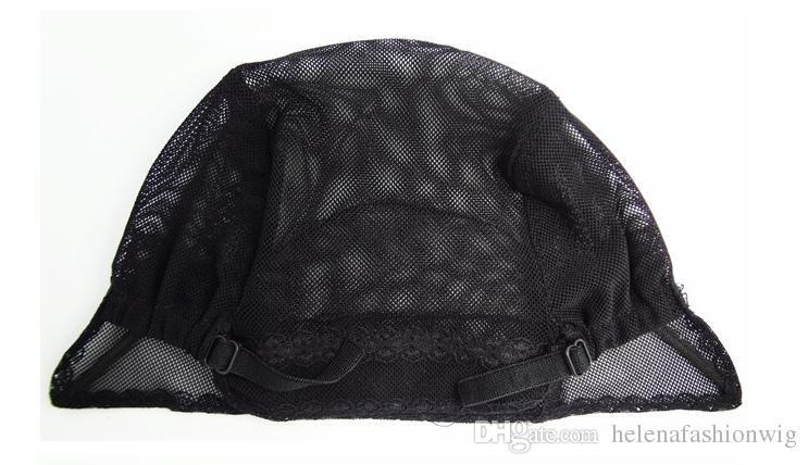 Professional weaving net wig cap cheap human hair mesh lace closure netting black weave making cap MOQ SR 30005