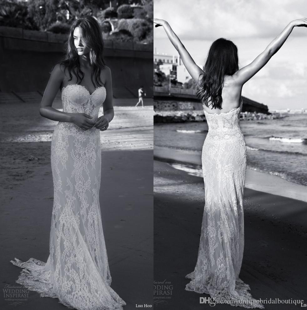 2016 Beach Bohemian Wedding Dresses Sheath With Sweetheart