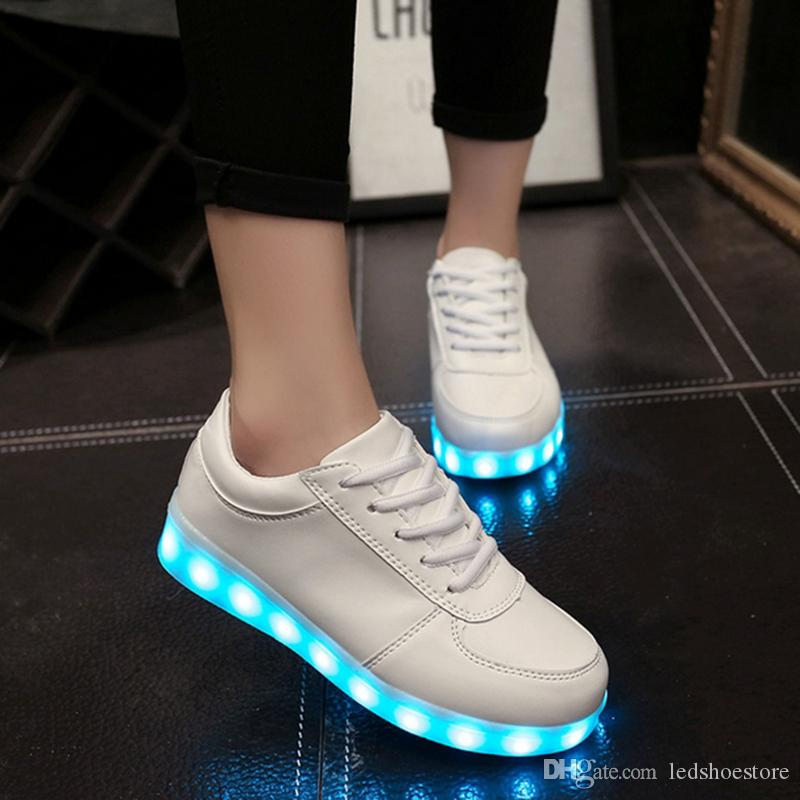 Cheap Led Shoes Woman USB Lights Up