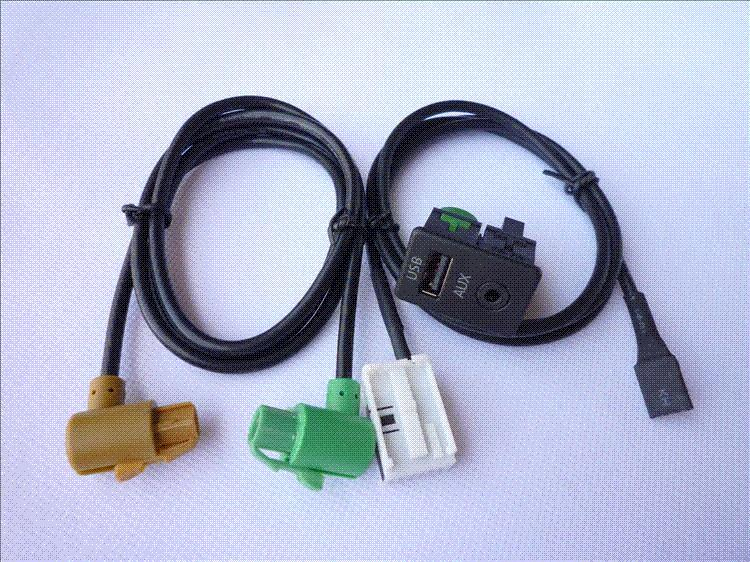 armrest aux and usb connector interface including cable for rh dhgate com