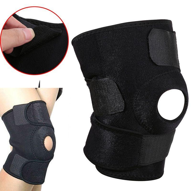 948b424ac0 Black Elastic Neoprene Patella Brace Knee Belt Fastener Adjustable Strap  Protector Guard Support Pads Hole Gym Sport Knee Brace Online with  $9.71/Piece on ...