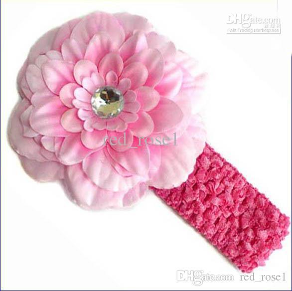 Boa venda bebê meninas peônia flor clipe + 1.5