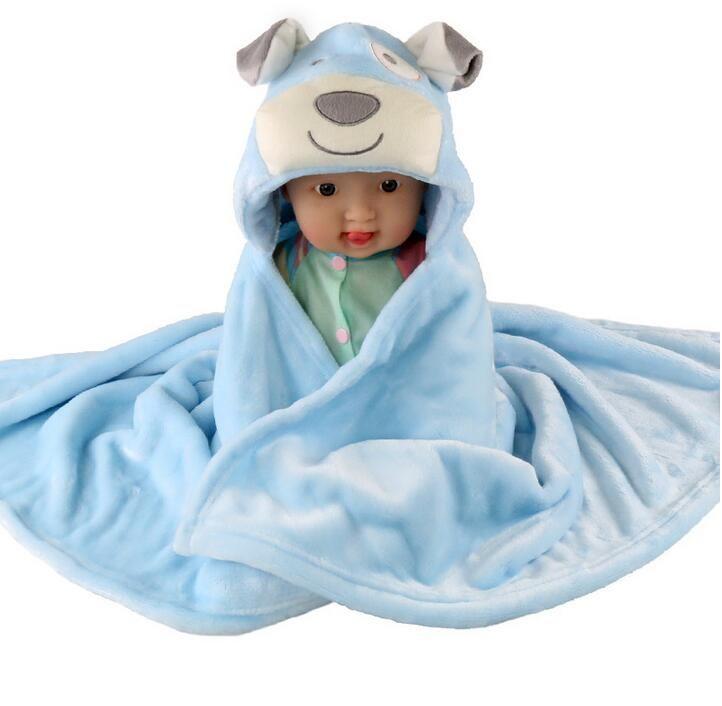 جديد 3d الكرتون المرجان الصوف الرضع عباءة الطفل بطانية مغلف عربة التفاف لحديثي الولادة الطفل الفراش بطانية