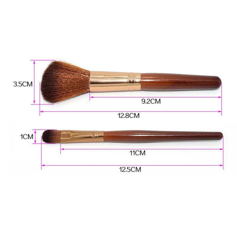 Brown Makeup Brushes Sets Wood Handle Multi-Functional Brushes Kits Makeup Tools with OPP Bag powder bruhs eye shadow brush 2805057