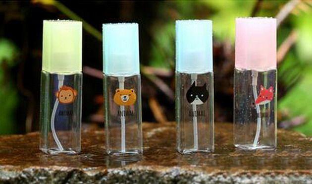 Fabrika Fiyat Parfüm Şişesi, Doldurulabilir Parfüm Sprey Boş Plastik Şişe Atomizer Karikatür baskı Kare Şişe 50 ml