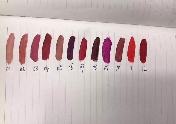 새로운 메이크업 니트 립 란제리 립스틱 액체 무광택 립스틱 12 색 무료 배송 Dhgate VIP 판매자
