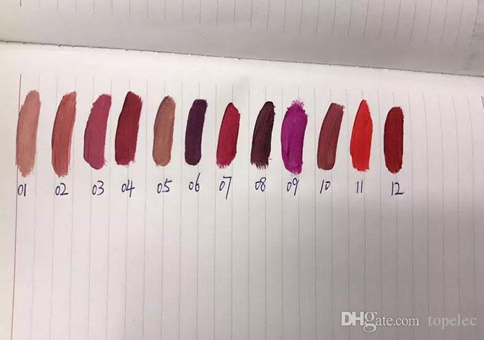 Lippenstift-Lippenstifte der hohen Qualität neuer Verfassung NY Lippenstifte flüssiger matter Lippenstift 12 freies Verschiffen dhgate vip Verkäufer