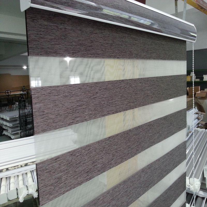 2019 custom made shade translucent roller zebra blinds in brown rh dhgate com