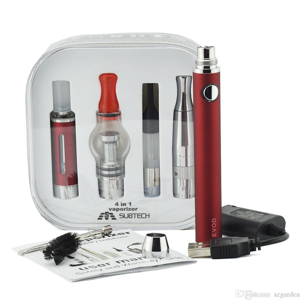 Neueste 4 in 1 evod Batterie Electonic Zigarette Multi Vape Verdampfer Starter Kit Vape Pen mt3 Trockenkräuterbehälter 0268017-1