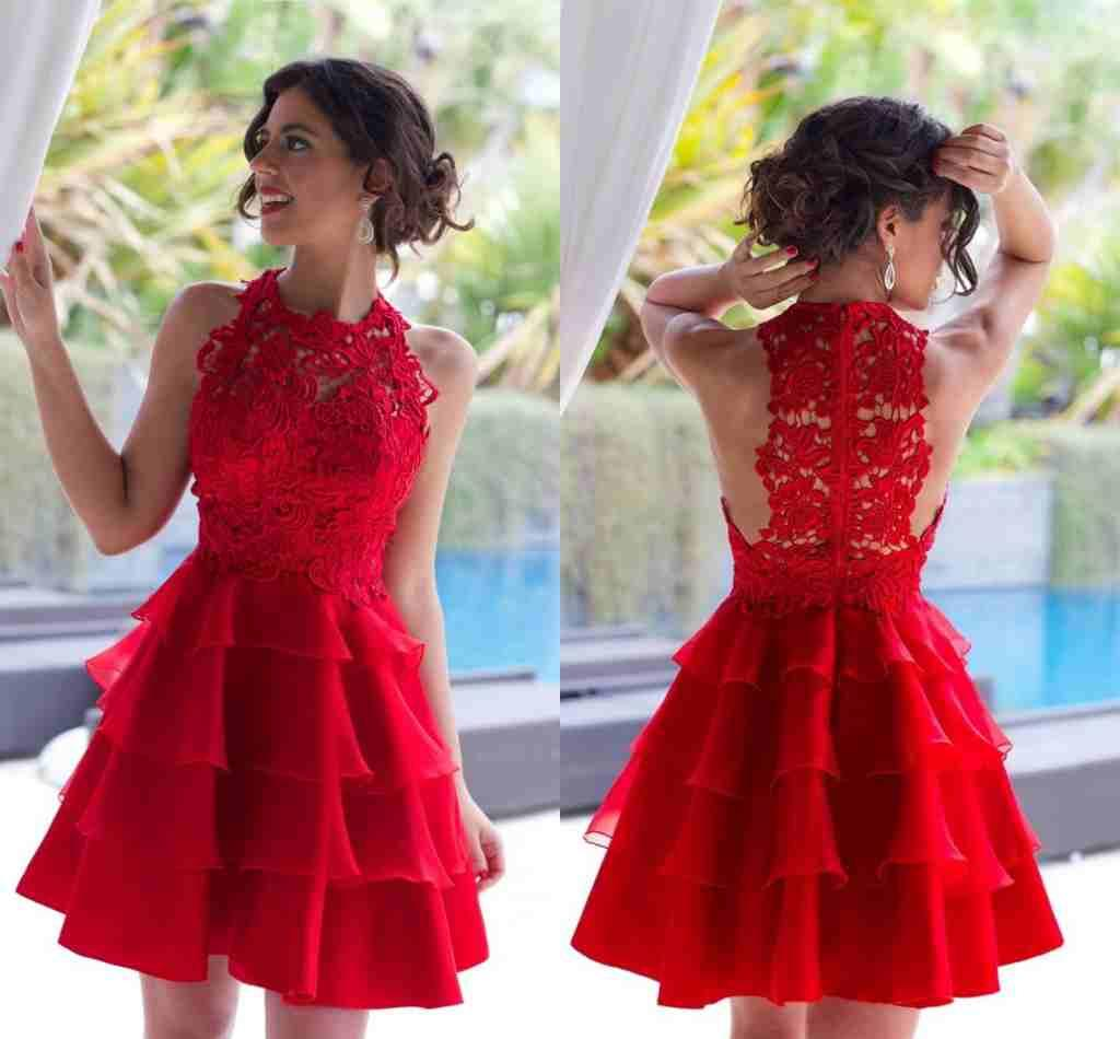 Großhandel 2016 Neue Reizvolle Rote Abiballkleider Mini Short Jewel ...