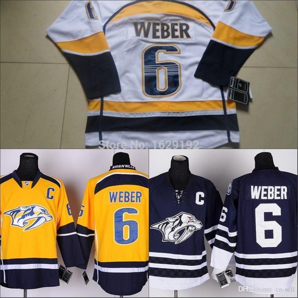 Best Cheap Nashville Predators Hockey Jerseys #6 Shea Weber Jersey Home  Gold Road Silver/White Navy Blue Stitched Jerseys C Patch Under $26.26 |  Dhgate.Com