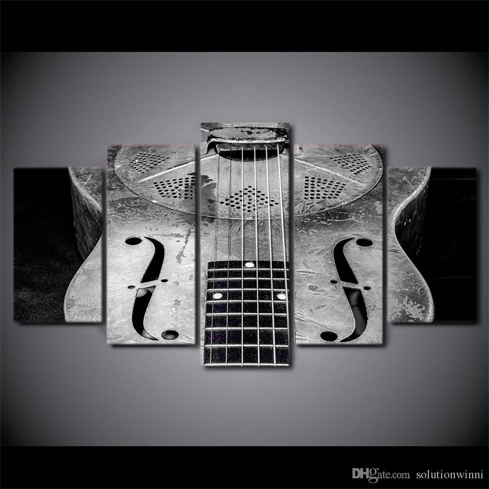 / Set Encadrée Imprimé Classique Guitare Guitare Instrument Affiche Moderne Home Wall Decororation Impression Peinture Toile Mur Photo
