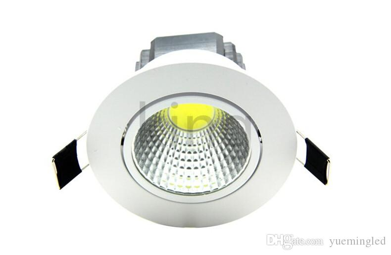 Bright Recessed LED Dimmable COB Downlight 5W 7W 9W 12W 15W LED Spot light Dimming Indoor Ceiling Lamp White/Warm white