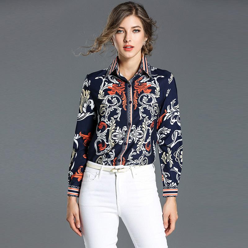 7a8b2a570cb 2019 Vintage Work Office Shirt Ladies Elegant Printing Shirts Blouse  Contact Color Chinese Style Slim Fit Top 2017 New From Sinofashion, $25.13    DHgate.Com