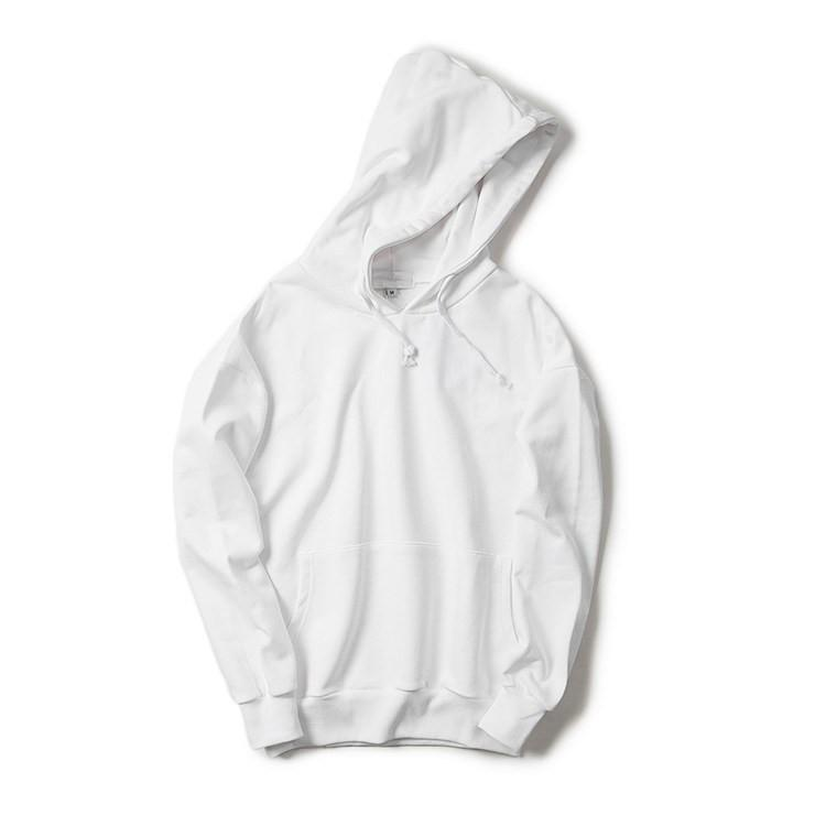 2018 High Quality White 100% Cotton Plain Hoodie With Pocket ...